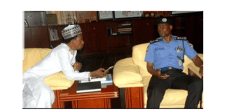 Nigerian police explains the reason for this photo of Elisha Abbo and IGP Mohammed Adamu