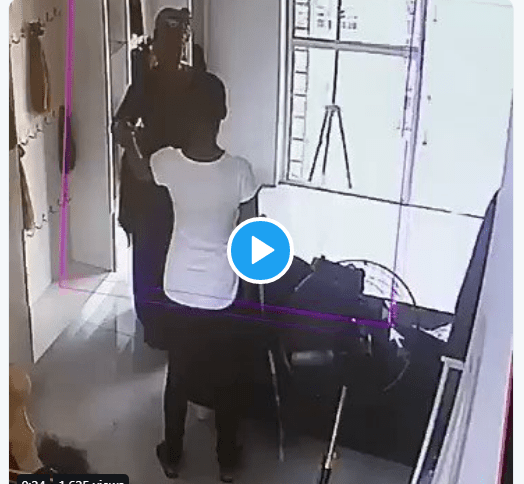 [Video]: Lady caught on tape as she stole hair worth N107k