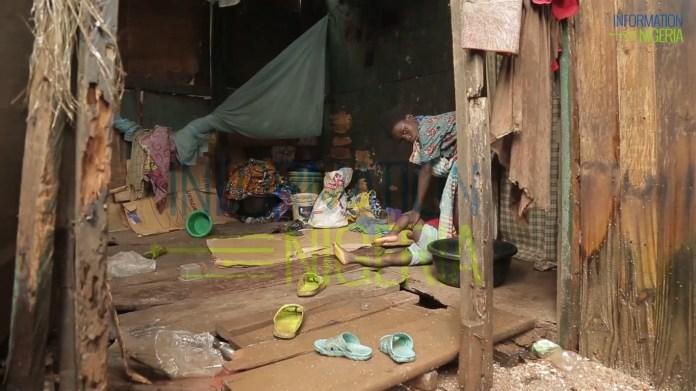 Ago Egun residents live in shack houses built on stilts