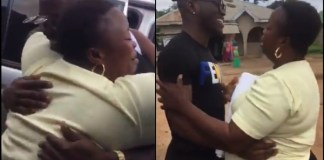 [Video]: Watch The Emotional Moment A Mother Set Eyes On Her Son For The First Time In 5 Years