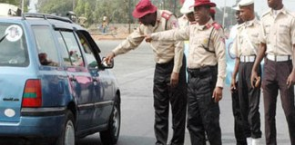FRSC officials on duty