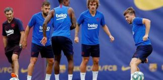 Training session in Barcelona