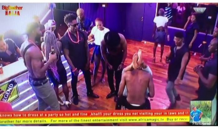 [Video]: Watch Ike ALmost Fighting Omashola For Slapping Mercy's Butt