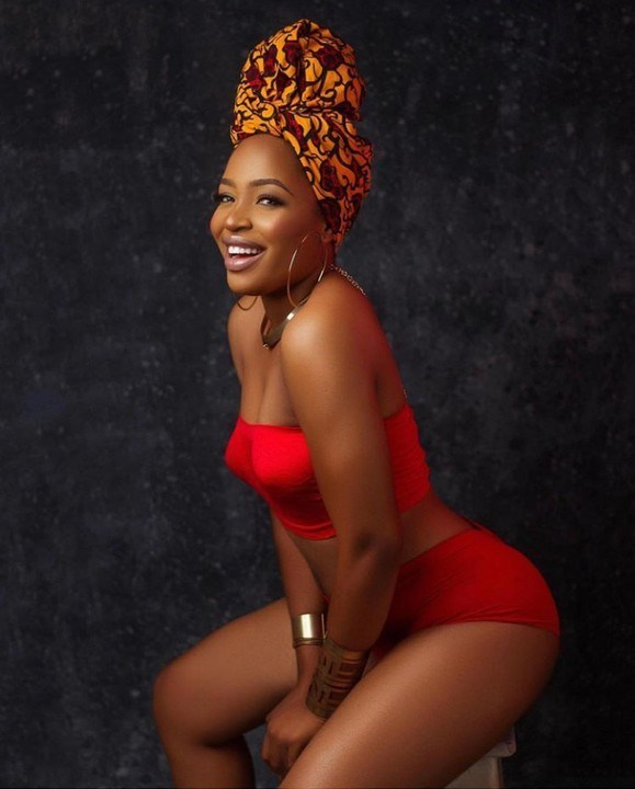 Evicted BBNaija Housemate Enkay Shows Off Her Hotness In Red Bikini