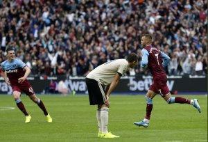 Manchester midfielder, Nemanja Matic, against Westham