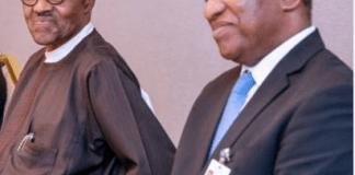 President Buhari and Geoffrey Onyeama
