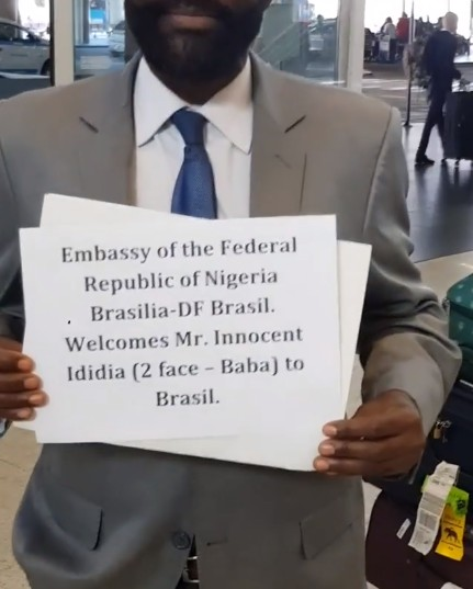 The message from the Nigerian embassy in Brazil