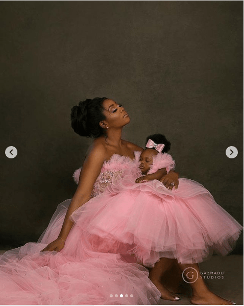 Super Eagles Participant, Ogenyi Onazi, Wife Celebrate Their Daughter's First Birthday