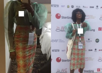 [Photos]: Nigerian Mannequin, Adetutu Attends Event Flaunting Her Body