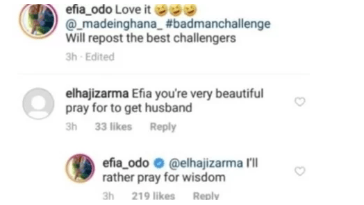 Efia Odo post