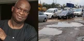 Fashola and bad portion of Nigerian road