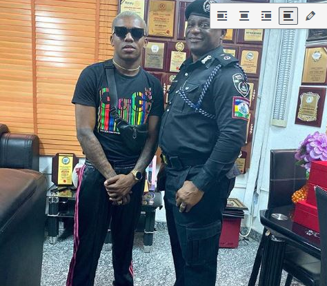 Singer, Small Doctor Visits RSS Commander In Lagos (Images)