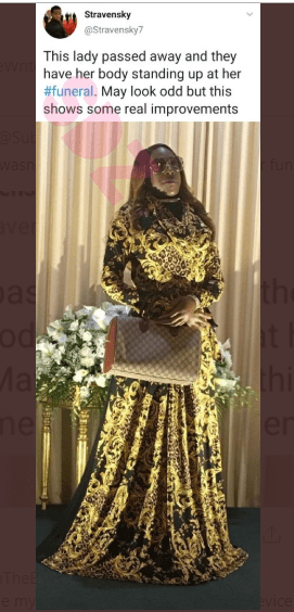 , Corpse Made To Stand At Her Own Burial (Photo), All 9ja