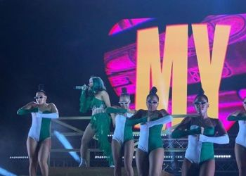 Cardi B Delivers Electrifying Performance Wearing Green And White Outfit  (Video)