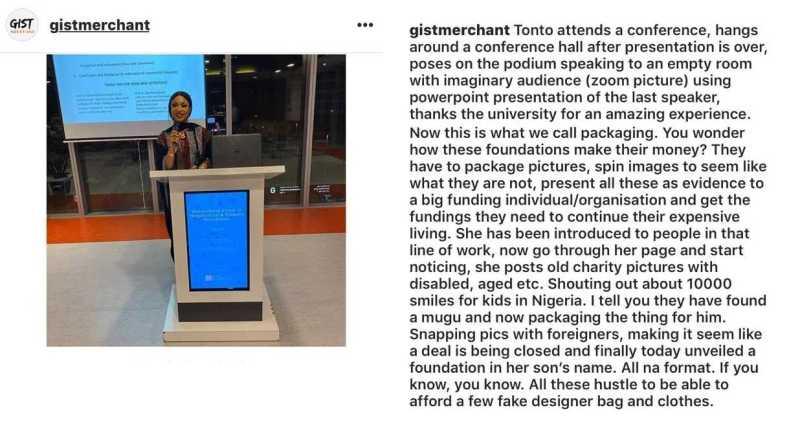 The Instagram User's post