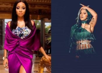 Toke Makinwa Slams Nigerians Praising Cardi B For Something They Will Trash Nigerian Celebrities For