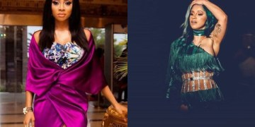 Toke Makinwa Slams Nigerians Praising Cardi B For Something They Will Trash Nigerian Celebrities For