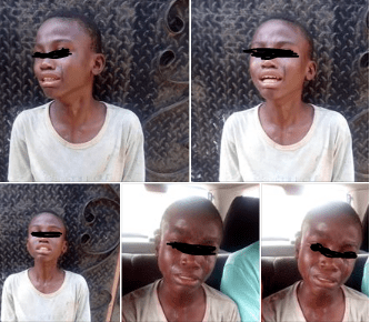 Boy Weeps Uncontrollably As He Was Used To Perpetrate Fraud In Lagos