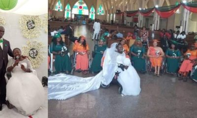 Lady In Wheelchair Ties Knot With Her Bridal Train Also In Wheelchairs (Images)