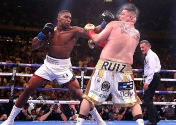 Anthony Joshua Clips Andy Ruiz Face With Sucker Punches (Video)