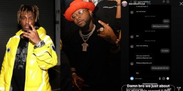 Davido Reveals He Was Working On A Song With Juice Wrld Before His Demise