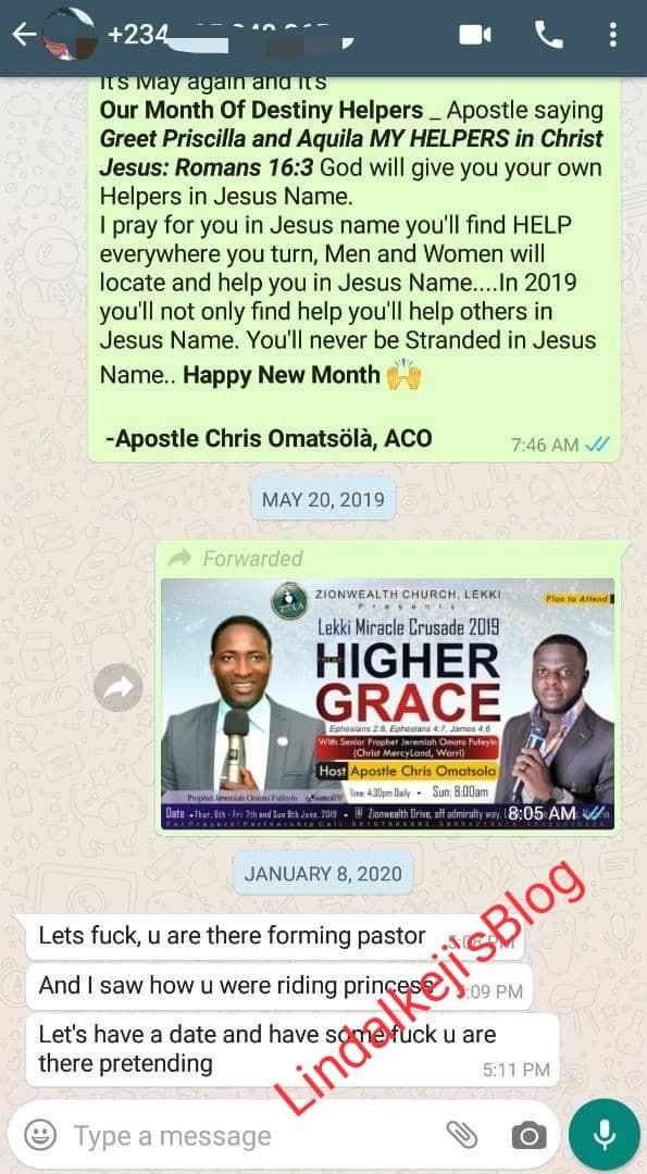 Apostle Chris Omashola