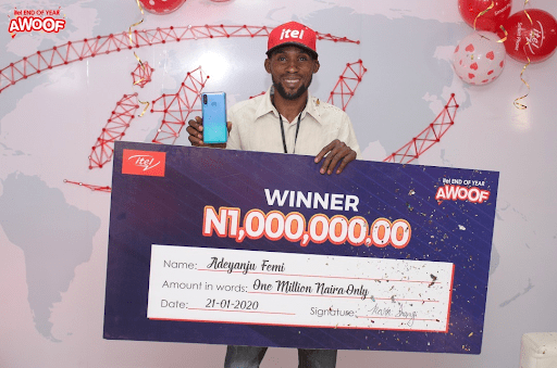 One Million Naira richer – itel Mobile rewards customers in Awoof Promo