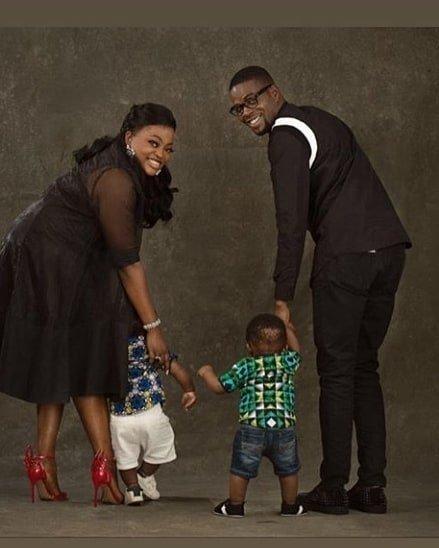 Funke Akindele-Bello, JJC Skillz and their twin boys