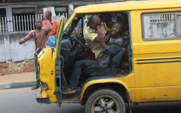 A Lastma official dragging steering wheel with a driver (File photo)