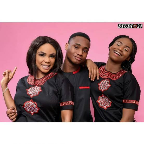 Iyabo Ojo, her son and daughter