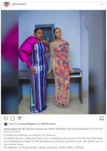 Adesuwa Etomi Sends Classy Message To BBNaija's Bisola As She Turns 34