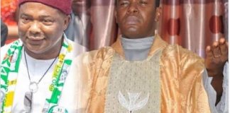 Collage photo of Hope Uzodinma and Father Mbaka