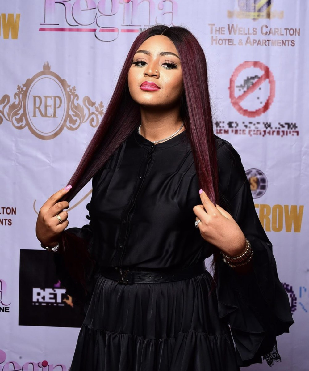 Pregnant Actress, Regina Daniels Spotted On A Movie Set With Her Personal Escort (Video)