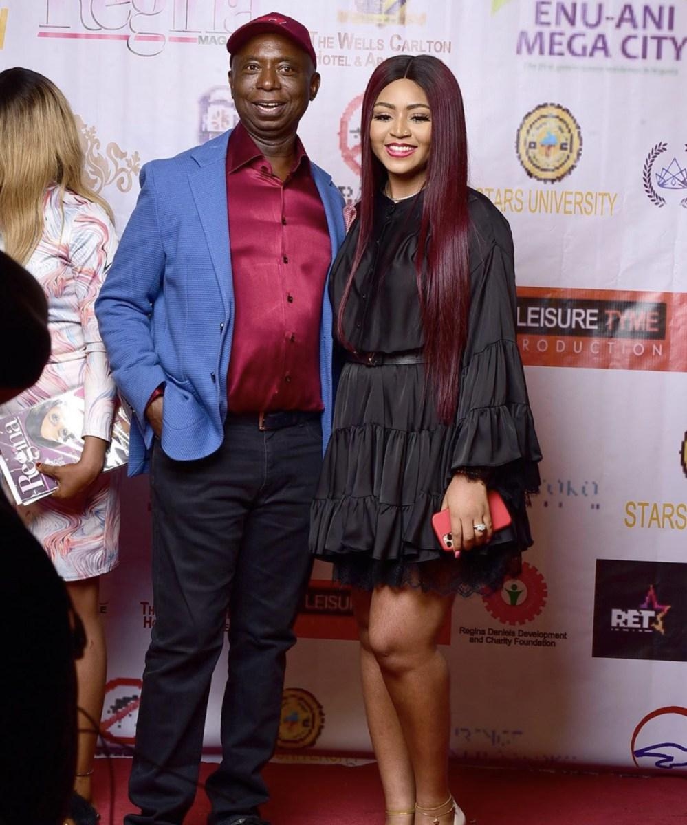Nigerian Celebrities Storm Regina Daniels' Magazine Launch In Abuja (Images)