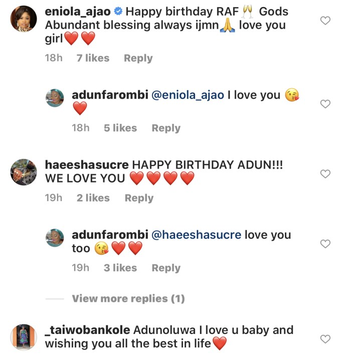 Moji Olaiya's colleagues celebrating Adun