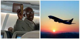 Aviation pastor preaches on plane