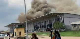 Oweeri airport razed by fire