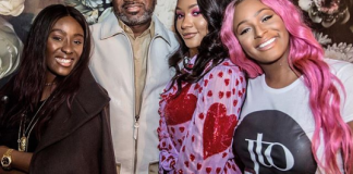 Femi Otedola and his daughters