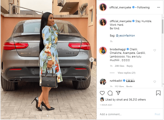 me 2 - Stay Humble, Work Hard And Be Kind, Mercy Eke Advises As She Shares New Photo