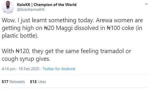 The Man's tweet