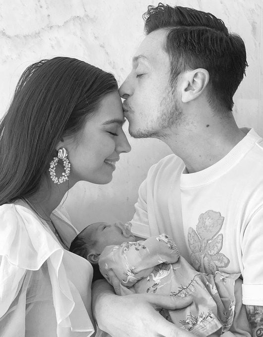 Arsenal Celebrity, Mesut Ozil And Wife Welcome Their First Child