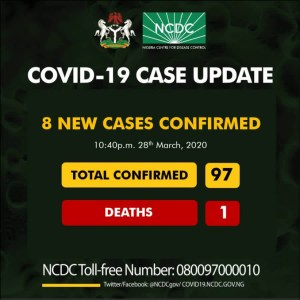 8 new cases confirmed in Nigeria