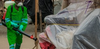 Photo from Accra markets during Monday's fumigation exercise