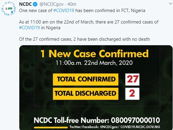 NCDC's tweet