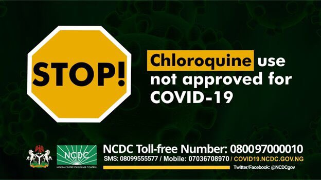 Coronavirus: Chloroquine Not Approved For Prevention, Treatment – NCDC