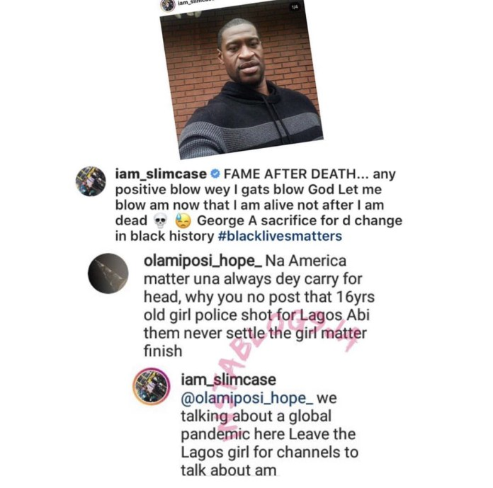 The rapper's comment on the issue