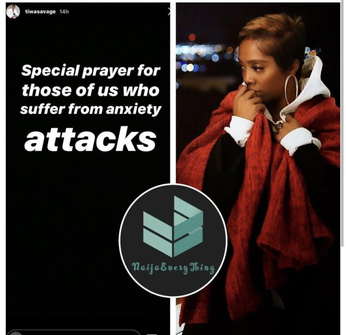 450F5CA5 3AF0 413D 8AC3 A1C3874778F7 - Singer, Tiwa Savage Says She Is Suffering From Anxiety Attacks