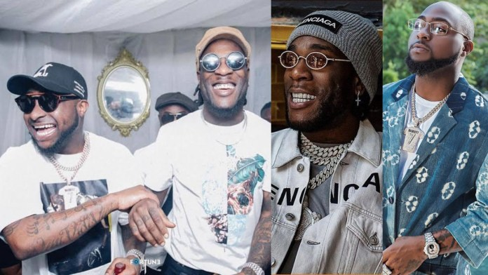 Collage photo of Davido and Burna Boy