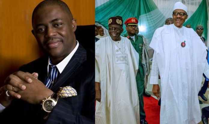 Collage photo of Fani Kayode, Buhari and Tinubu