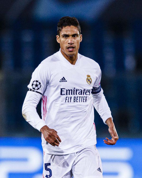 Real Madrid Defender, Varane Tests Positive For COVID-19